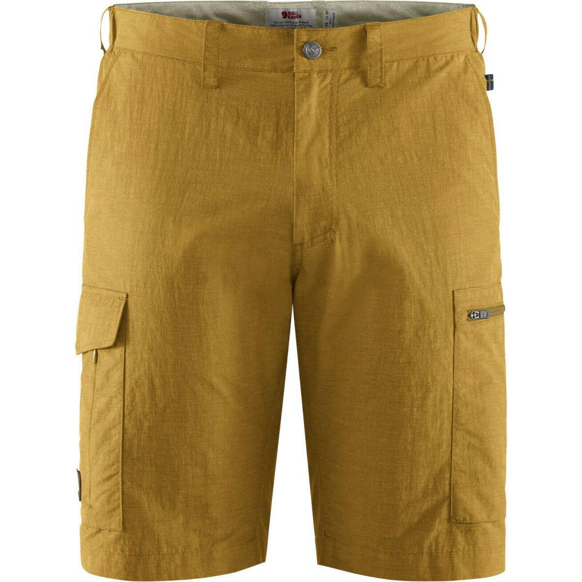 Fjällräven Travellers MT Shorts 84756 ochre MT-Eco Shorts Wanderhose Reisehose