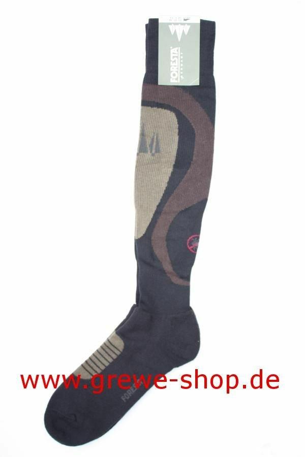 """FORESTA Strümpfe  """"Anti-Zecke"""" Zeckenschutz Antizecken Kniestrumpf Jagdstrümpfe 37/38"""