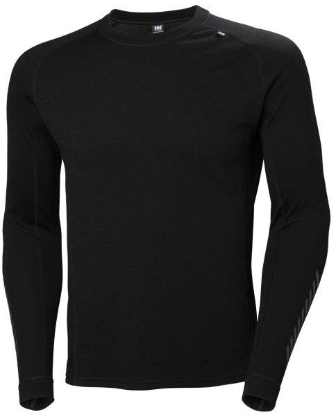 HH Helly Hansen Lifa Merino Classic Crew  49313 schwarz Unterhemd Langarmhemd