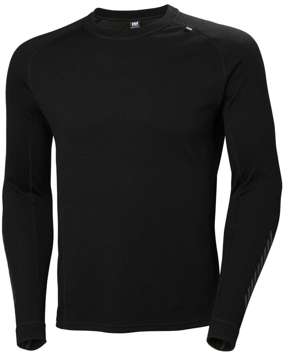 HH Helly Hansen Lifa Merino Crew  48316 schwarz Unterhemd Langarm Funktionshemd