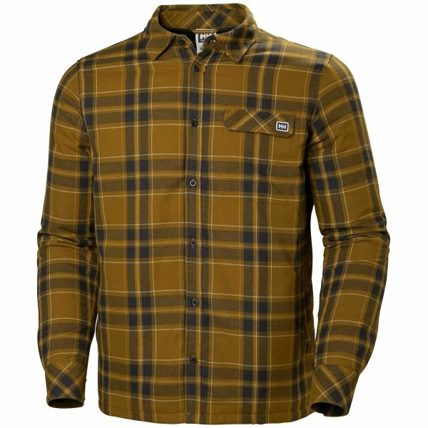 HH Helly Hansen Lifaloft Insulated Flannel Shirt 62920 marmalada Thermohemd L