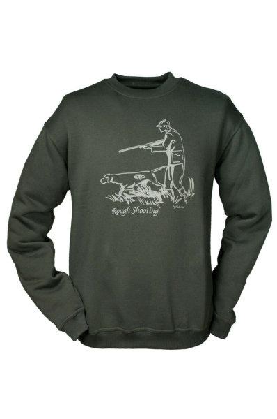 HUBERTUS Hunting Shirt Herren Sweatshirt  ROUGH SHOOTING oliv  Sweater Pulli