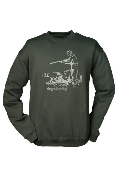 HUBERTUS Hunting Shirt Herren Sweatshirt  ROUGH SHOOTING oliv  Sweater Pulli S
