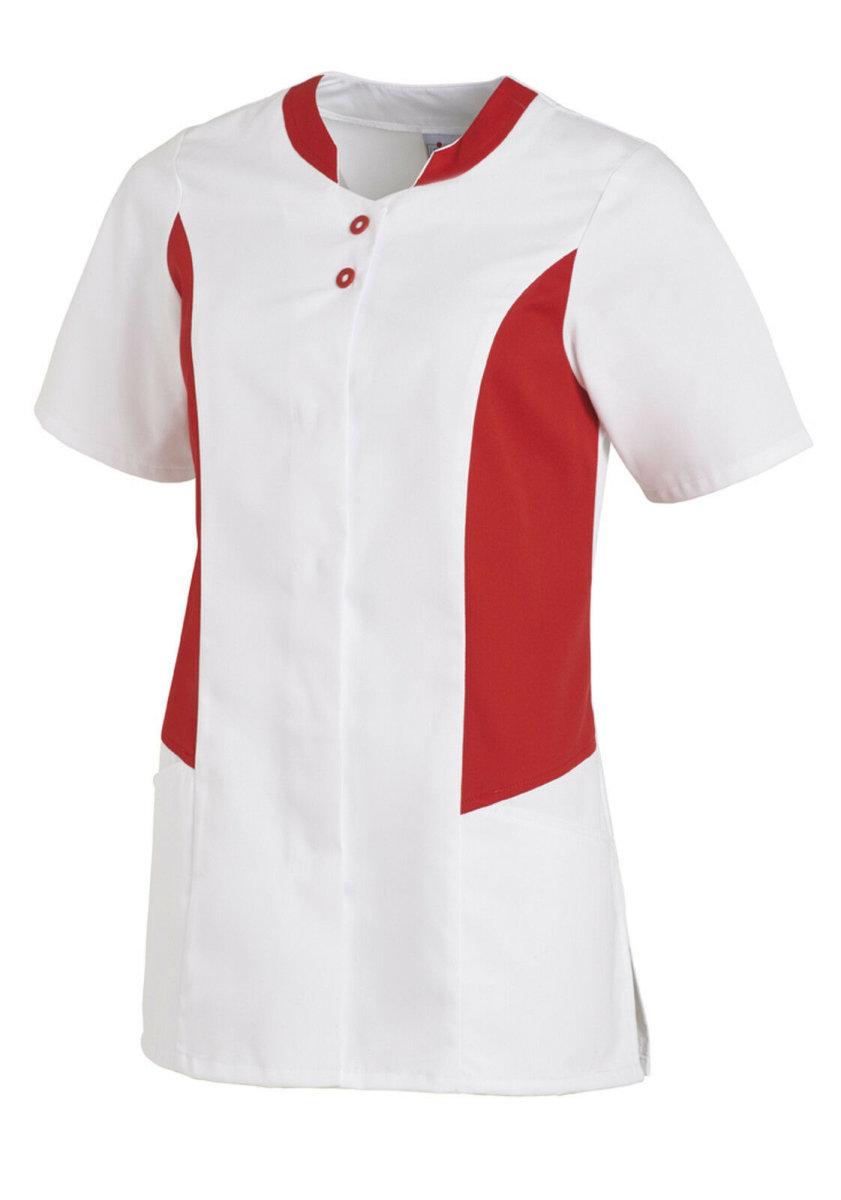 LEIBER Damen Hosenkasack 1/2 Arm  08/25070 Kasack Damenkasack Fb. weiß / rot 46