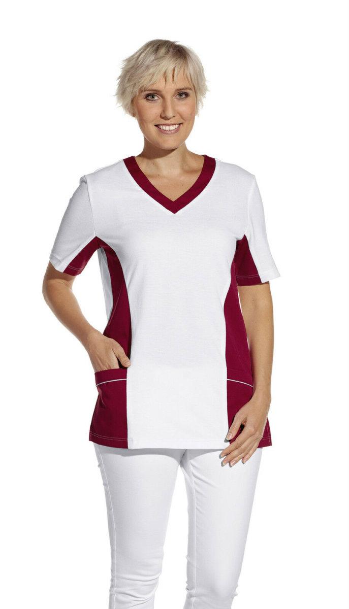 LEIBER Damen Pique Schlupfjacke 08/2531  Fb. weiss beere  1/2 Arm Pique Shirt  XL