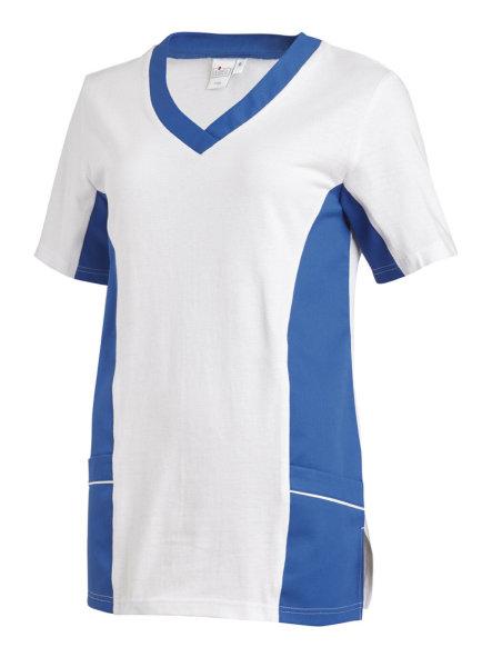 LEIBER Damen Pique Schlupfjacke 08/2531  Fb. weiss blau  1/2 Arm Pique Shirt