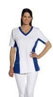 LEIBER Damen Pique Schlupfjacke 08/2531  Fb. weiss blau  1/2 Arm Pique Shirt  M