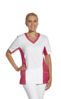 LEIBER Damen Pique Schlupfjacke 08/2531 Fb weiss dunkelrosa 1/2 Arm Pique Shirt  XL