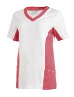 LEIBER Damen Pique Schlupfjacke 08/2531 Fb weiss dunkelrosa 1/2 Arm Pique Shirt  M
