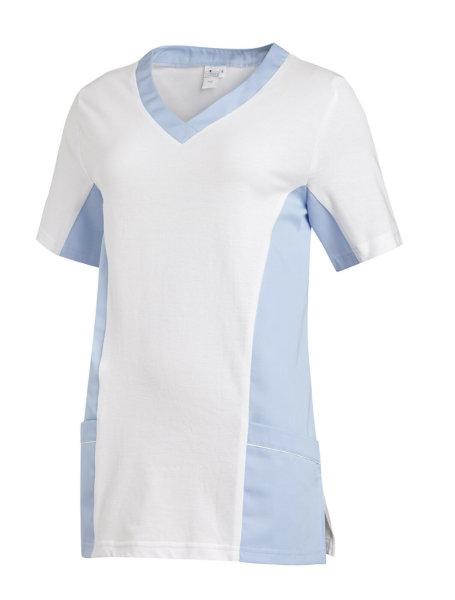 LEIBER Damen Pique Schlupfjacke 08/2531 Fb. weiss hellblau 1/2 Arm Pique Shirt  2XL