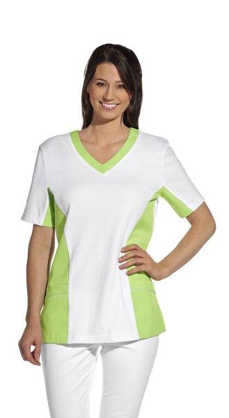 LEIBER Damen Pique Schlupfjacke 08/2531 Fb. weiss hellgrün  1/2 Arm Pique Shirt  S