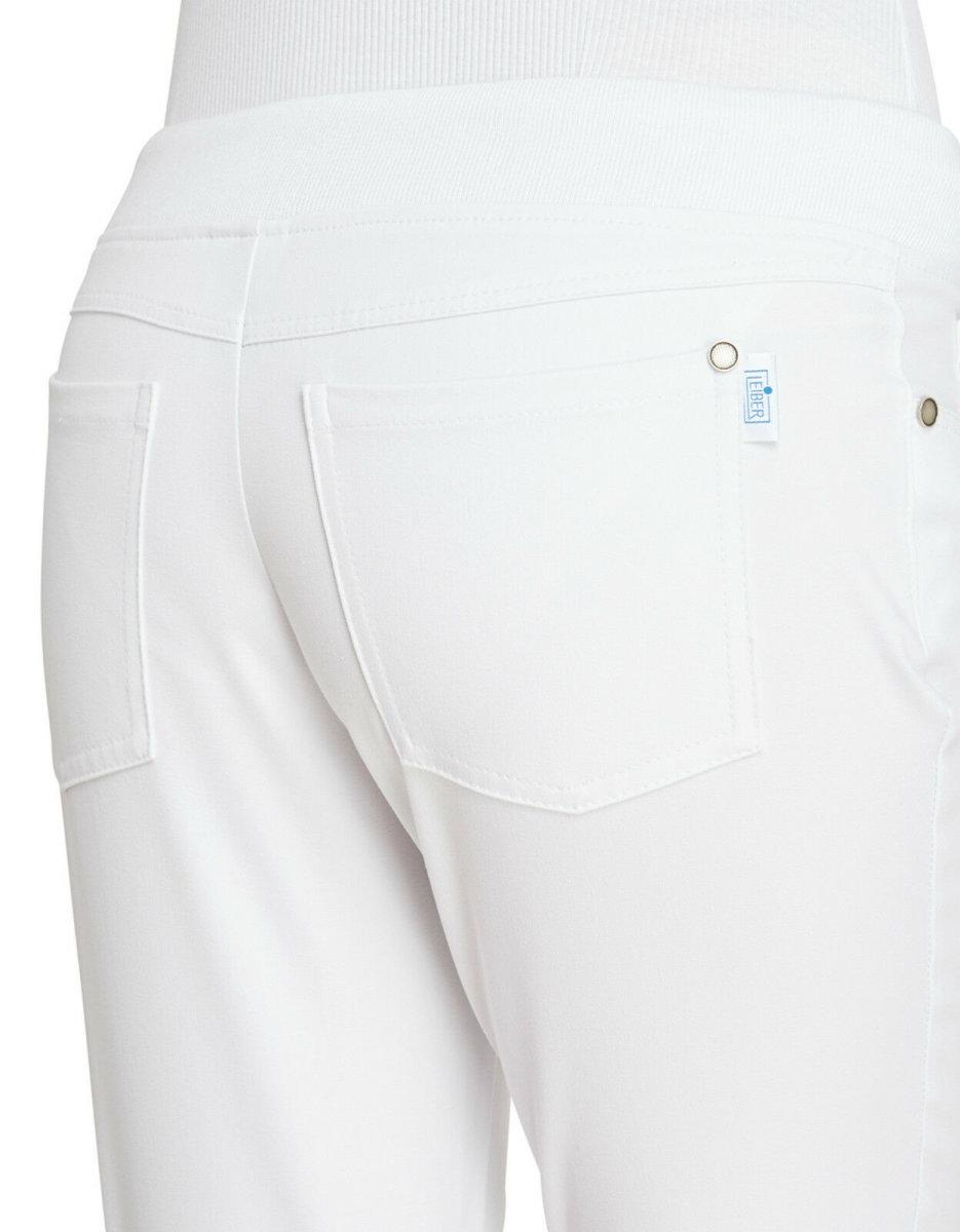 LEIBER Damenhose 08/6910  Five-Pocket Strickbund 3/4 Hose Fb. weiß Schritt 52cm 36