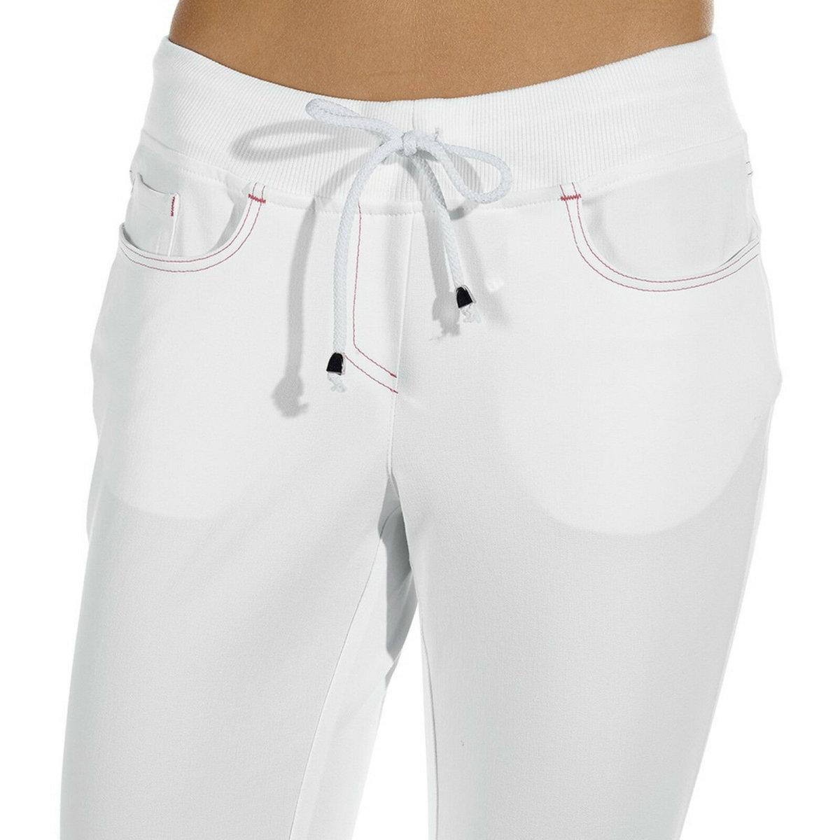 LEIBER Damenhose 08/7100 Five-Pocket SLIM Style Strickbund Fb. weiß Schritt 80cm 38