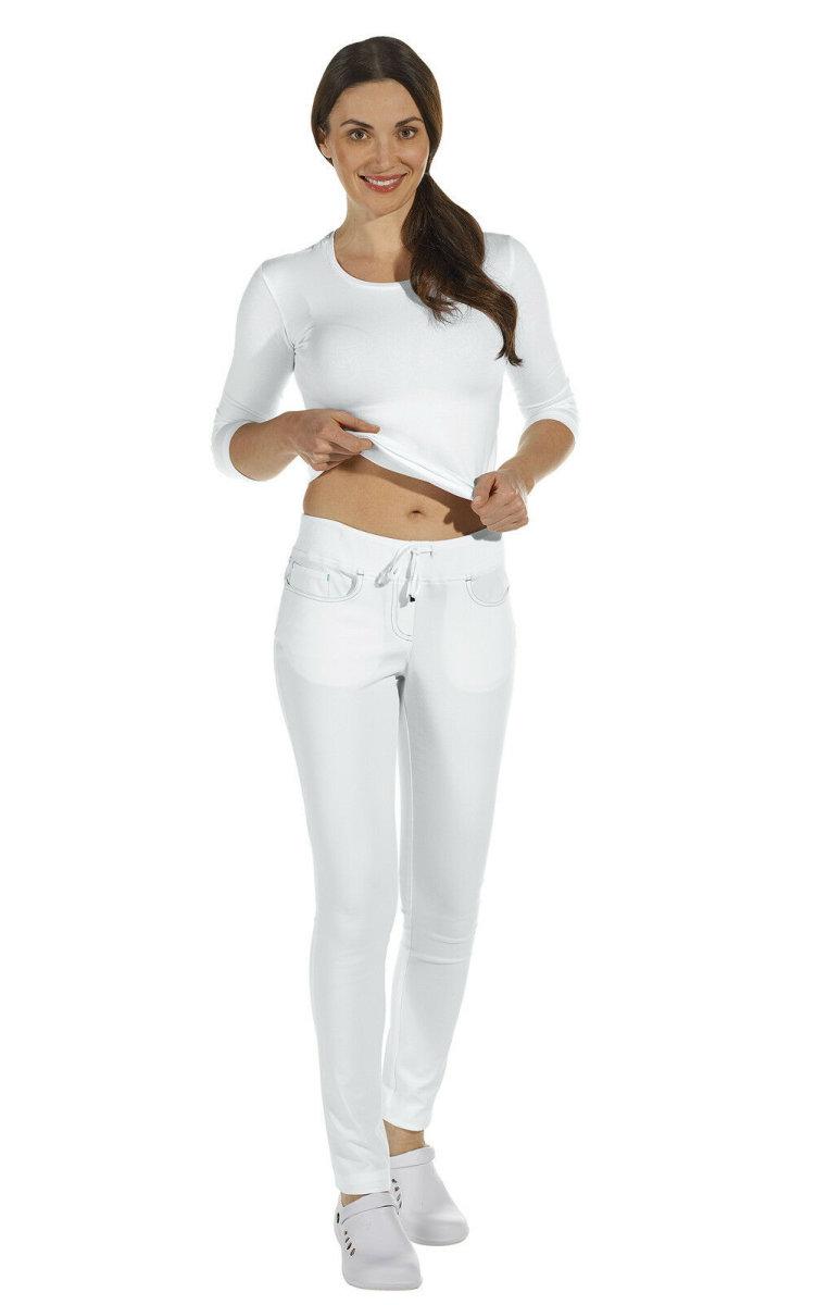 LEIBER Damenhose 08/7100 Five-Pocket SLIM Style Strickbund Fb. weiß Schritt 80cm 34