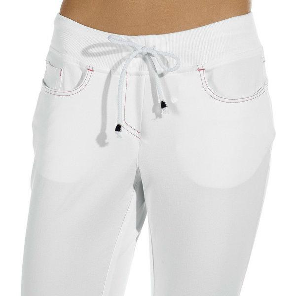 LEIBER Damenhose 08/7100 Five-Pocket SLIM Style Strickbund Fb. weiß Schritt 80cm 46
