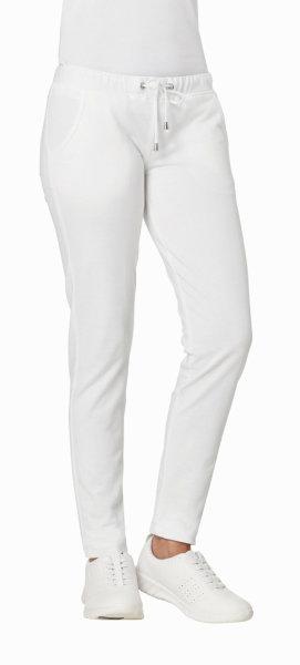 LEIBER Damenhose 08/7560 Sweathose SLIM Style Strickbund Fb. weiß Schritt 76cm