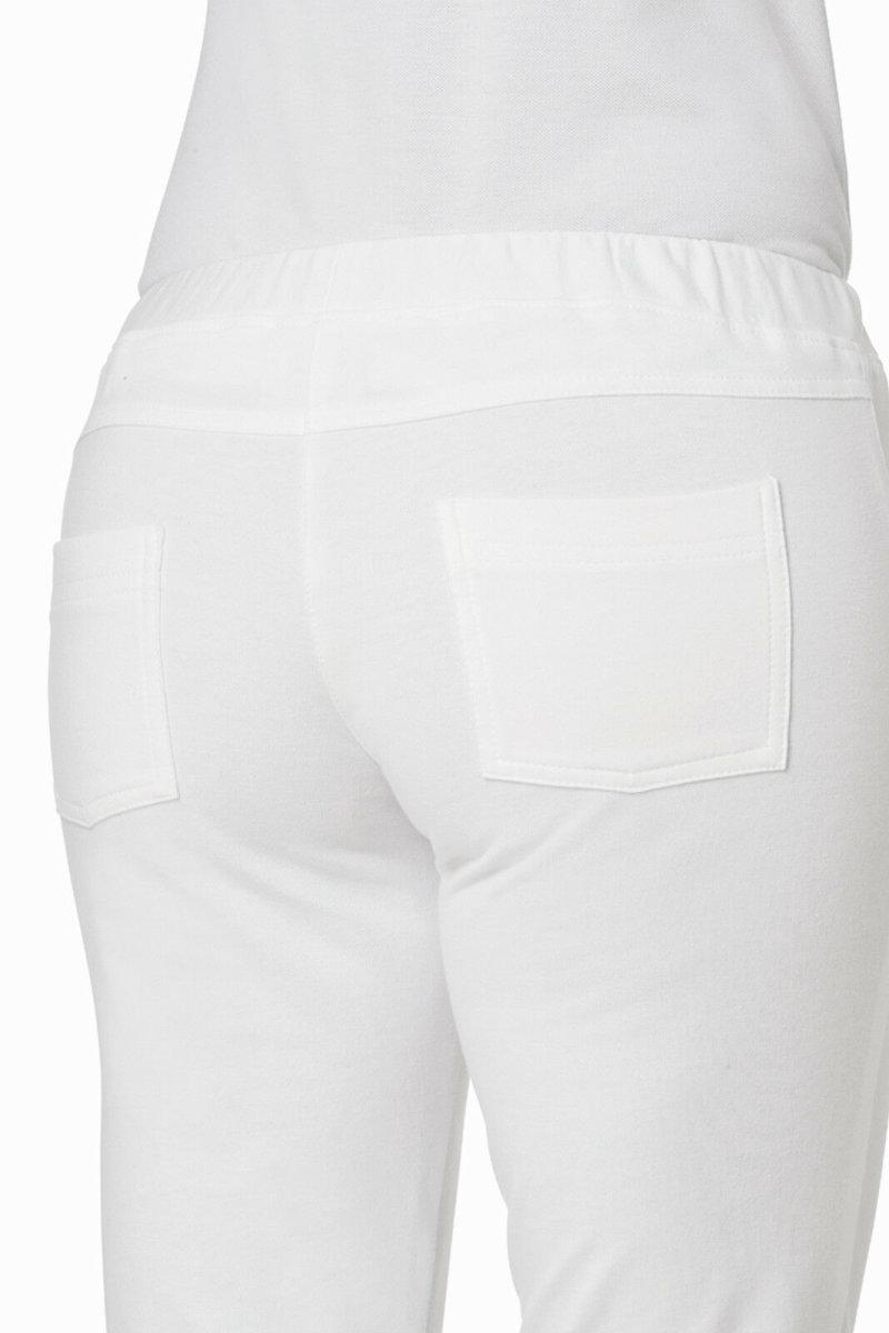 LEIBER Damenhose 08/7560 Sweathose SLIM Style Strickbund Fb. weiß Schritt 76cm 3XL