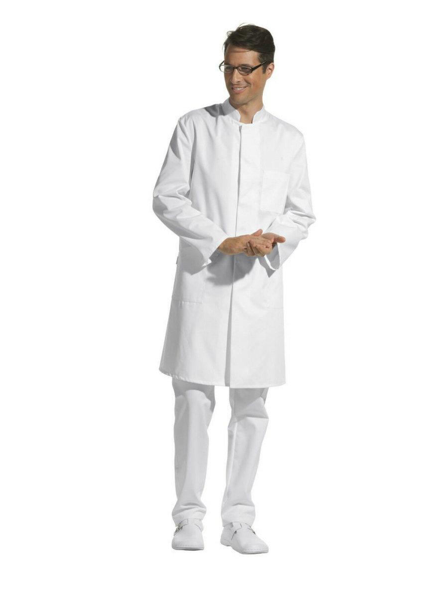 LEIBER Herrenmantel  12/9920  Visitenmantel Labormantel Arztmantel Farbe weiß 52