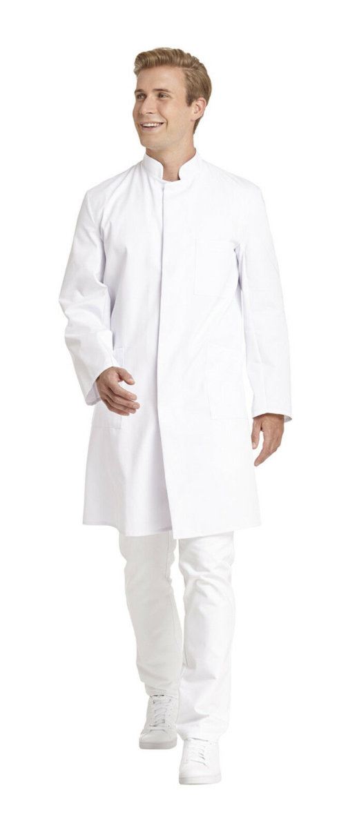 LEIBER Herrenmantel  12/9920  Visitenmantel Labormantel Arztmantel Farbe weiß 48