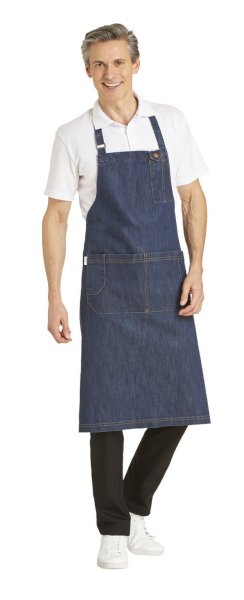 LEIBER Latzschürze 11/2631 denimblue Jeans Denim Überwurfschürze Arbeitsschürze