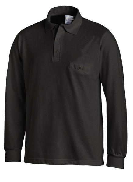 LEIBER Polo Pique Shirt  08/841  Poloshirt 1/1 Arm schwarz Langarm unisex