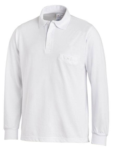 LEIBER Polo Pique Shirt  08/841  Poloshirt 1/1 Arm weiß  Langarm unisex  L