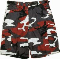 Mil-TEC Bermuda T/C red camo kurze Hose Military Shorts...
