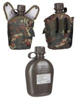 MIL-TEC Feldflasche 1ltr. Trinkflasche flecktarn Army...