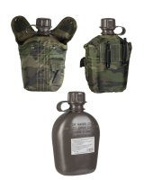 MIL-TEC Feldflasche 1ltr. Trinkflasche woodland Army...