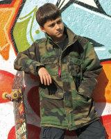 Mil-TEC Feldjacke Ranger Kids woodland  Army Kinderjacke...