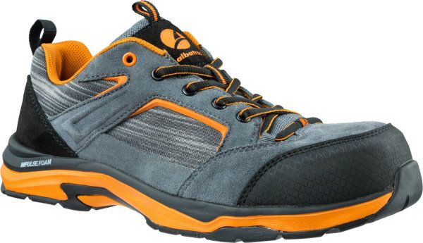 ALBATROS Damen Sicherheitsschuhe WORKOUT LOW  646240 S1P ESD HRO SRC grau orange 40
