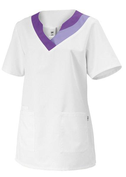 BP Schlupfkasack 1664 Damenkasack 1/2 Arm Kasack Schwesternkleidung weiß / lila 38