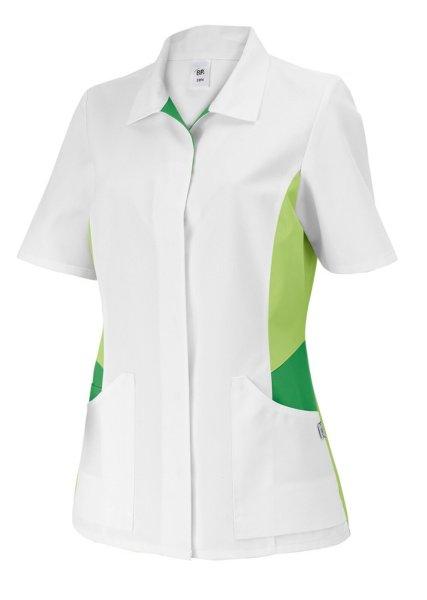 BP Schlupfkasack 1665 Damenkasack 1/2 Arm Kasack Schwesternkleidung weiß hellgr 50