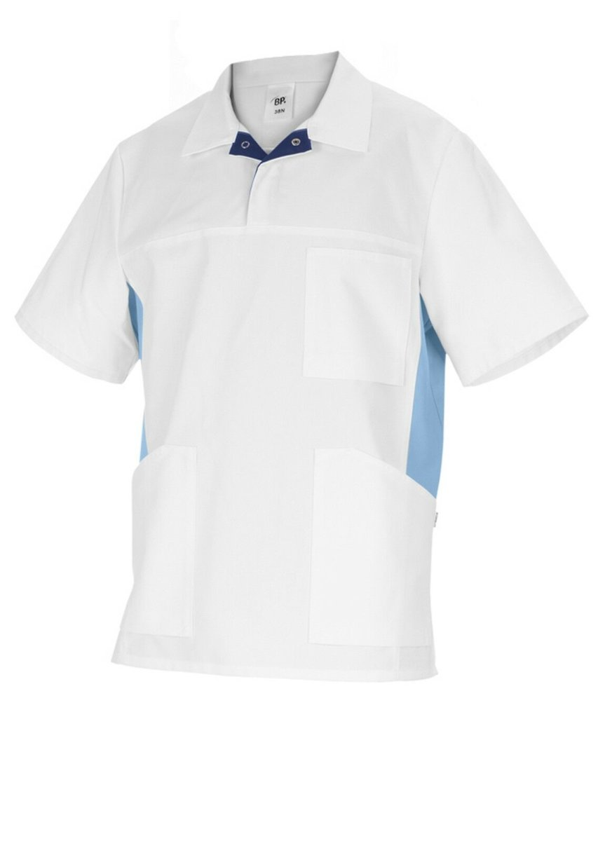 BP Schlupfkasack für Sie&Ihn 1666  Damenkasack Herrenkasack Kasack weiß hellblau XL