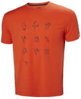 HH Helly Hansen Skog Graphic T-Shirt 62856 cherry toma...
