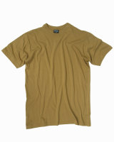 MIL-TEC  T-Shirt coyote US Style Rundhals Shirt Cotton...