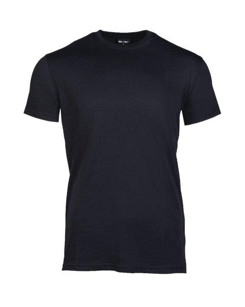 MIL-TEC  T-Shirt schwarz US Style Rundhals Shirt Cotton Shirt