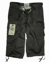 MIL-TEC Air Combat 3/4 Pants Shorts Hose prewash schwarz...