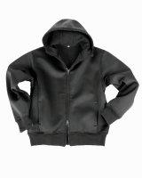 Mil-TEC Jacke schwarz Neoprenjacke Fleece gefüttert