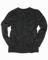 MIL-TEC Langarm Shirt  Army Shirt  schwarz Cotton Shirt...