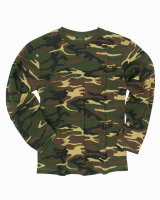 MIL-TEC Langarm Shirt  Army Shirt  woodland Cotton Shirt...