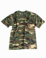 MIL-TEC T-Shirt KIDS woodland Tarnshirt Kinder Army...