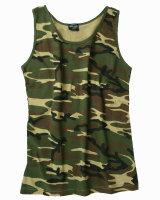 MIL-TEC US Tank Top woodland Army Shirt Achselhemd...