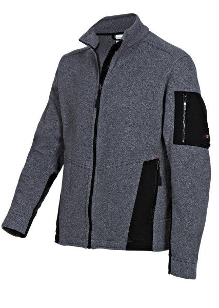 BP Workwear Strickfleecejacke 1876 Fleecejacke Strickjacke Jacke dunkelgrau  2XL