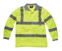 Dickies Hi-Vis Polo SA22077 yellow Langarm Signalshirt...