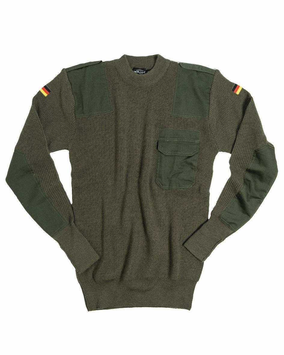 Bundeswehr Pullover BW Pullover 80/20 oliv Jagdpullover Freizeitpullover Pulli