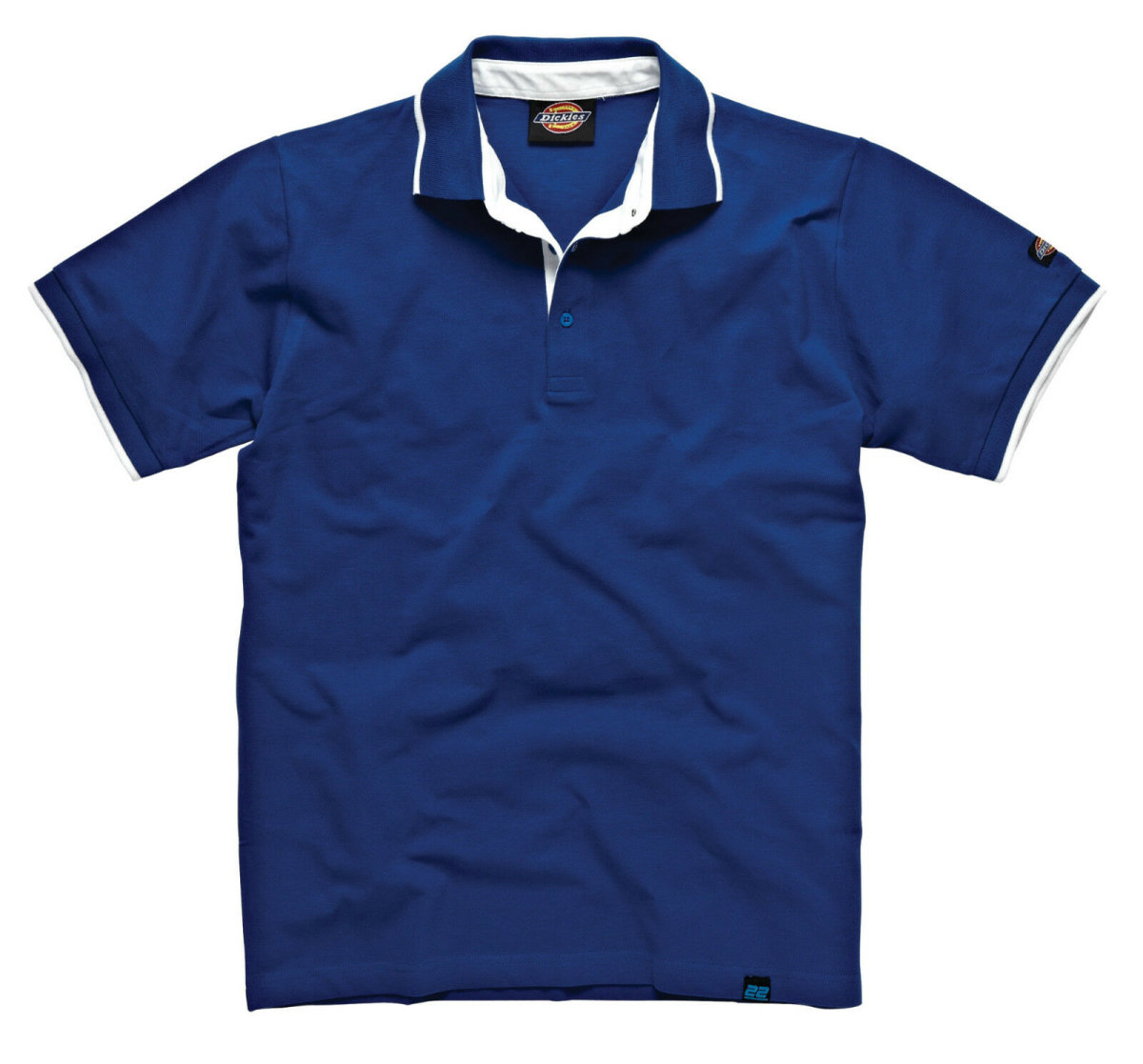 "Dickies ""22""  Worker Polo Anvil Shirt DT2000 blau Poloshirt Hemd  S"