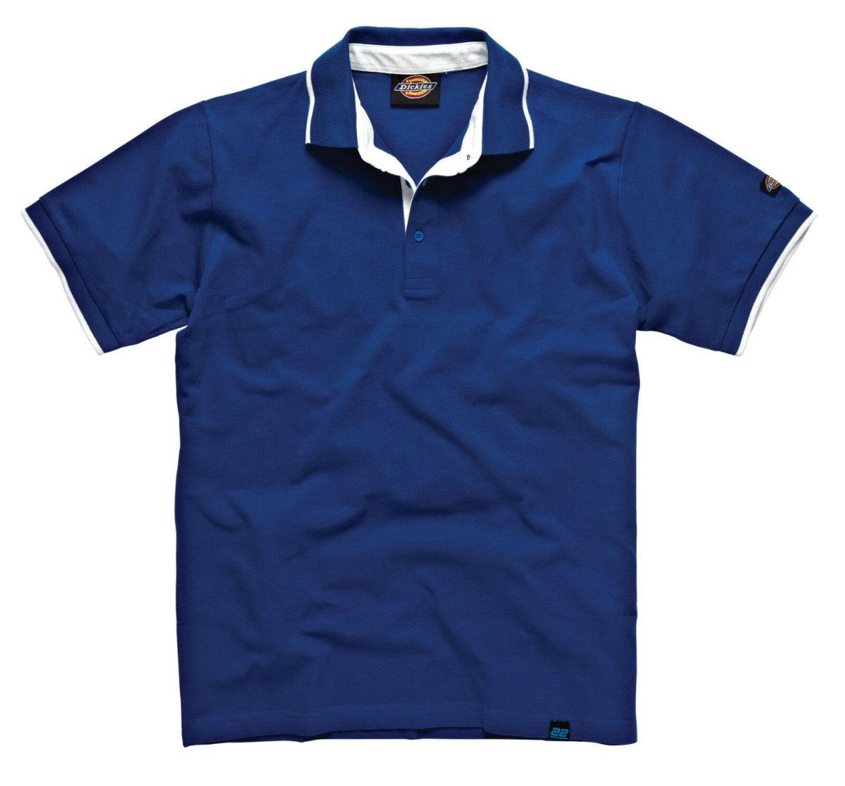 "Dickies ""22""  Worker Polo Anvil Shirt DT2000 blau Poloshirt Hemd  2XL"
