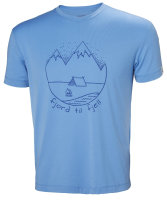 HH Helly Hansen Skog Graphic T-Shirt 62856 cornflower...