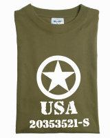 MIL-TEC  T-Shirt  ALLIED STAR  oliv  Army Shirt  bedruckt...